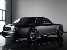 Matte Black Rolls Royce Phantom
