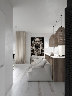 Modern Monochrome Tribal Decor Ethnic Decor, Tribal Decor, Living Room Designs, Living Room Decor, African Interior Design, Piece A Vivre, Apartment Interior, Apartment Living, Home Furniture