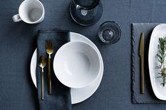 Broste Copenhagen servies - Eenvoud siert; wit servies met een rustig patroon #mijnservies