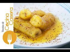 Plátanos flambeados | Recetas de Cocina Casera - Recetas fáciles y sencillas