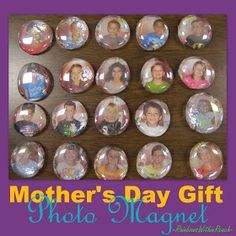Kindergarten Mother's Day Photo Magnet Gift, Simple craft for Mother's Day
