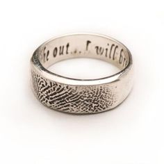 Personalized Sterling Silver Fingerprint Ring, Unisex | Made on Hatch.co