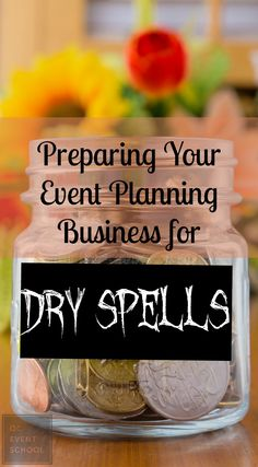As an event planner, it is important to be prepared for when business slows down…