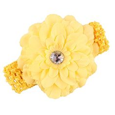 Everain 12 Colors Baby Girl Cotton Hair Band Headband with Peony Flower ** Check out the image by visiting the link.