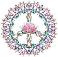 Peace sign... Mandala vibe with beautiful lotus center.