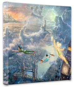 Thomas Kinkade~ I love that he painted the villians into the clouds