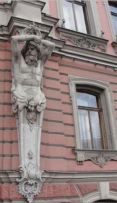 Atlantes in St. Petersburg, Russia.