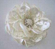 Ivory Shantung Satin with Vintage Lace Bridal by theraggedyrose