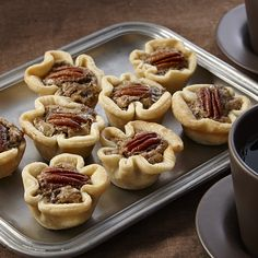 Pecan pies in bite size form that are perfect for entertaining.