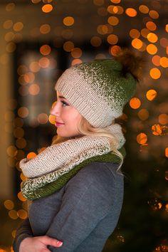 Шарф снуд и шапка вязаные «Оливковая роща», комплект вязанный - комплект шапка и шарф Mens Scarf Knitting Pattern, Baby Knitting Patterns, Sweater Hat, Knit Beanie, Knit Crochet, Crochet Hats, Knitting Projects, Knitted Hats, Winter Hats