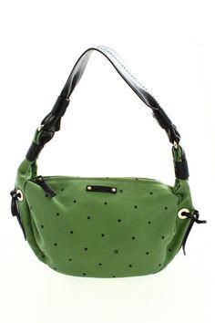 Check out Kate Spade Green Larabee Dot Shoulder Bag on Threadflip!