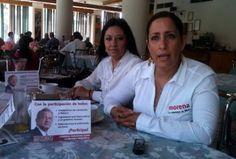 Claudia Garza del Toro, dirigente estatal de Morena en Coahuila y Leonor Jacob, UNica
