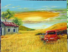 An original fine art oil painting 'Out to by MariluBryanArt, $675.00