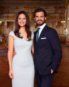 royalcorrespondent: The Swedish Royal Court released new photos ahead of the Royal Wedding on June 13, 2015-Sofia Hellqvist and Prince Carl Philip