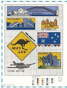"ru / natalytretyak - Альбом ""Map of Australia"" Australia Wallpaper, Australia Map, Ribbon Embroidery, Cross Stitch Embroidery, Cross Stitch Patterns, Cross Stitches, Australian Flags, Opus, Diy Christmas Ornaments"