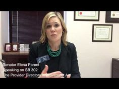 CHAT with Sen. Elena Parent on the Provider Directory Improvement Act - YouTube
