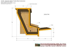 home garden plans: CF100 - Automatic Chicken Feeder Plans Construction - How To Build A Chicken Feeders