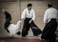 Aikidolehrgang im Budokan Wels / Oberösterreich, Mai 2014: Sanningake: Mehrere Angreifer