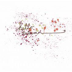 Autumn Art Word - Hello Autumn