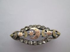 Antique-Sweetheart-Brooch-with-Crescent-and-Forget-me-not-design