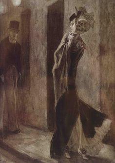 Félicien Rops (Belgian, 1833-1898)    La Parodie Humaine (1881)