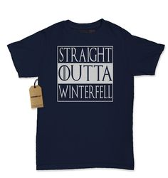 Women's Straight Outta Winterfell Shirt Printed by XpressionTees