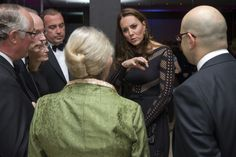 October 23, 2014 - Britain's Catherine, Duchess of Cambridge (C), greets supporters as she attends an Autumn Gala evening in support of Action on Addiction