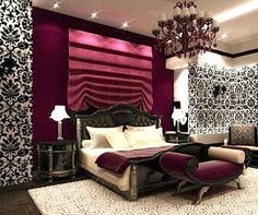 #LeovanDesign #bedroom #patterns #textiles #colors #interiordesign #mixingpatterns #wallpapers