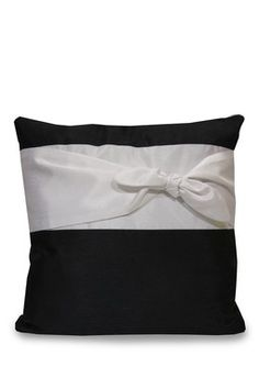 """$35.00  Thro by Marlo Lorenz  Audrey Bow Pillow - 18' x 18"""". SO pretty. I will one day put this in my industrial loft."""