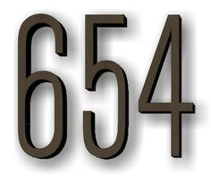 custom Metal House Numbers & Letters
