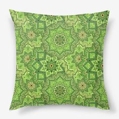 Подушка Индийский узор в зеленом цвете, Автор: Ирина Кильдюшова, Цена: 1250 р.
