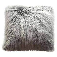 Oversized Faux-fur Pillow White - Threshold™ : Target
