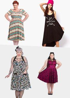 Plus size dresses in alternative styles from RebelsMarket