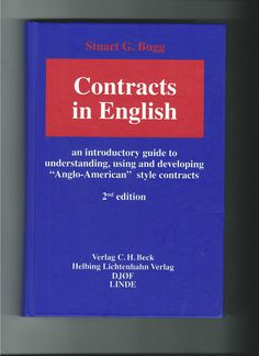 Contracts in English Stuart G. Bugg