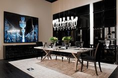 Fendi Home Collection by Fendi Casa - Brunello table and Frangie chairs by Dimitri Rybaltchenko