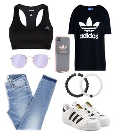 """So colorful"" by caraline60 on Polyvore featuring Ray-Ban, adidas Originals, adidas and Lokai"