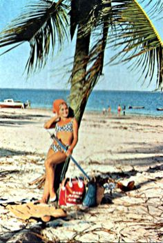 Mombasa Beauty with East African Airways Bag 1960