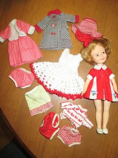 VINTAGE PENNY BRITE DOLL & Clothing Lot  DELUXE READING CORP.