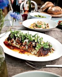 Slow-Cooked Leg of Lamb with Spiced Yogurt and Herbs Recipe from Food & Wine