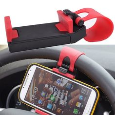 GOOD CAR STEERING WHEEL RUBBER BAND CELLPHONE HOLDER STAND FOR SMART PHONE GPS