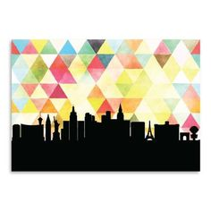 "East Urban Home PaperFinch Designs Las Vegas Triangle by Amy Braswell Graphic Art Size: 12"" H x 16"" W"