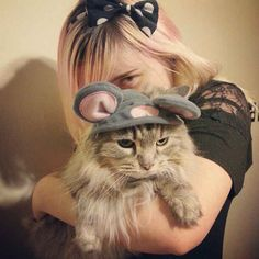 This pissed-off mouse. | 20 Cats Who Deeply Resent Their Halloween Costumes