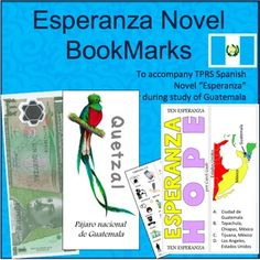 If you are reading the TPRStorytelling Novel, Esperanza, or studying about Guatemala, you are going to love these bookmarks.