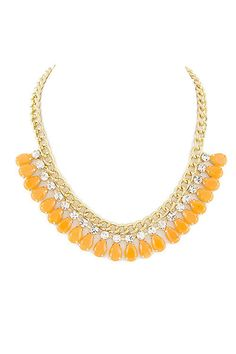 Orange Blossum Drop Necklace