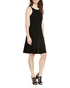 Lauren Ralph Lauren Contrast Trim Jersey Dress | Bloomingdale's