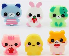 kawaii gomme animals
