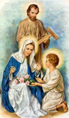 Image: Saint Mary Holy Family n St Joseph 18 صورة Jesus Mary And Joseph, St Joseph, Blessed Mother Mary, Blessed Virgin Mary, Christian Images, Christian Art, Religious Paintings, Religious Art, Image Jesus