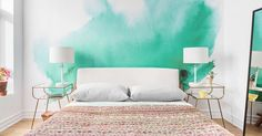 In case you want to change things up in your studio, we asked several designers how to use bright colors in small spaces.