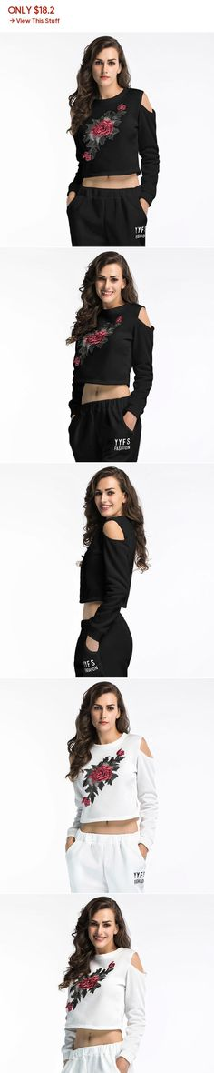 cb83333fdacf2 2018 Fashion crop top O-Neck Cotton Sexy gothic long sleeve Print Casual  harajuku sweatshirt