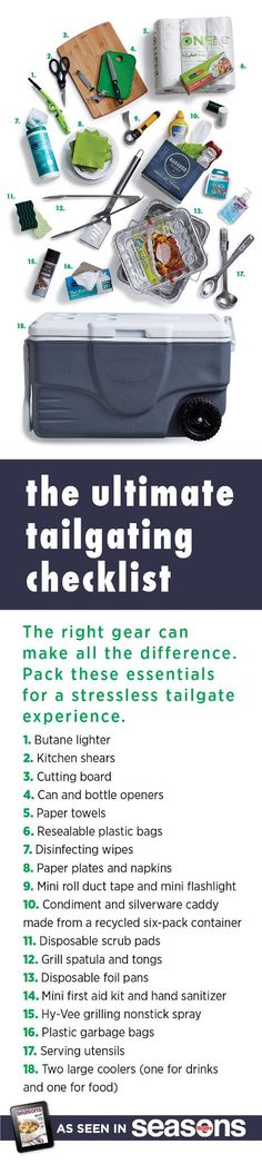 The right gear can make all the difference. Pack these essentials for a stress-free tailgate experience. Tailgate Games, Football Tailgate, Tailgating Recipes, Tailgate Food, Football Food, Tailgating Gear, Football Parties, Silent Auction Baskets, Raffle Baskets